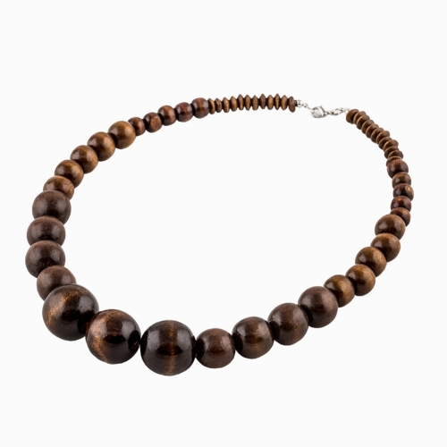 EVBEA Sandalwood Buddha Beads Long Necklace Nipal Steel Beads Rudraksha Necklace Handmade Buddhism Necklace